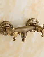 Недорогие -Ванная раковина кран - Широко распространенный Электропокрытие Другое Две ручки двумя отверстиямиBath Taps