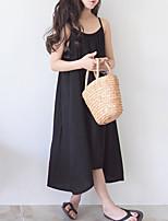 Недорогие -Дети Девочки Классический Однотонный Без рукавов Платье Черный