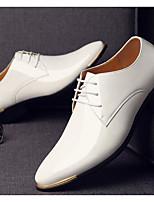 Недорогие -Муж. Комфортная обувь Полиуретан Весна & осень Туфли на шнуровке Черный / Коричневый / Синий
