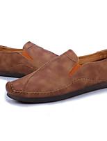 Недорогие -Муж. Комфортная обувь Микроволокно Весна & осень Мокасины и Свитер Черный / Коричневый / Хаки