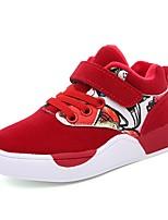 Недорогие -Девочки Обувь Замша Зима Удобная обувь Спортивная обувь Беговая обувь для Для подростков Черный / Серый / Красный