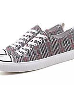 Недорогие -Муж. Комфортная обувь Полотно Весна & осень Кеды Черный / Красный / Черный / синий