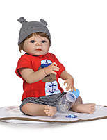 cheap -NPKCOLLECTION 20 inch Reborn Doll Baby Boy Cute New Design Artificial Implantation Blue Eyes Full Body Silicone Silica Gel Vinyl with Clothes and Accessories for Girls' Birthday and Festival Gifts