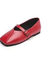 Недорогие -Девочки Обувь Микроволокно Лето Удобная обувь На плокой подошве для Дети / Для подростков Черный / Бежевый / Красный