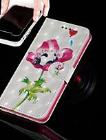 Недорогие -Кейс для Назначение Apple iPhone XR / iPhone XS Max Кошелек / Бумажник для карт / со стендом Чехол Панда / Цветы Твердый Кожа PU для iPhone XS / iPhone XR / iPhone XS Max
