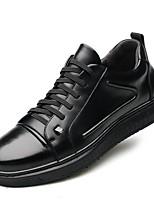 Недорогие -Муж. Комфортная обувь Кожа Весна & осень Кеды Черный