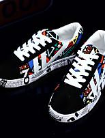 Недорогие -Муж. Комфортная обувь Полиуретан Весна Кеды Белый / Синий / Оранжевый и черный