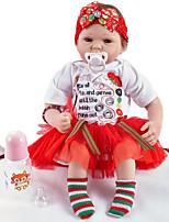 Недорогие -FeelWind Куклы реборн Кукла для девочек Девочки 20 дюймовый Силикон Винил - как живой Ручная Pабота Очаровательный Дети / подростки Нетоксично Детские Универсальные Игрушки Подарок