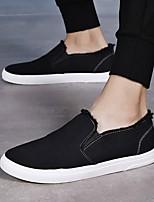 Недорогие -Муж. Комфортная обувь Полотно Весна лето Мокасины и Свитер Белый / Черный / Оранжевый