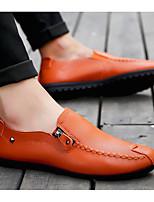 Недорогие -Муж. Комфортная обувь Искусственная кожа Весна & осень Мокасины и Свитер Белый / Черный / Оранжевый