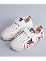 Недорогие -Девочки Обувь Полиуретан Осень Удобная обувь Кеды для Для подростков Белый / Черный / Бежевый