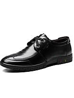 Недорогие -Муж. Комфортная обувь Кожа Весна Туфли на шнуровке Черный / Темно-русый