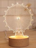 Недорогие -1шт LED Night Light Желтый DC Powered Творчество <=36 V