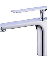 Недорогие -Ванная раковина кран - Новый дизайн Хром / Электропокрытие Настольная установка Одной ручкой одно отверстиеBath Taps