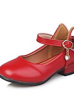 Недорогие -Девочки Обувь Полиуретан Весна & осень Детская праздничная обувь Обувь на каблуках Для прогулок для Дети Бежевый / Красный / Розовый