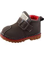 Недорогие -Мальчики / Девочки Обувь Искусственная кожа Весна & осень Удобная обувь / Армейские ботинки Ботинки для Дети Черный / Серый / Желтый