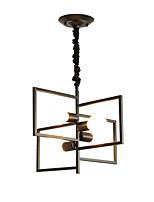 Недорогие -4-Light геометрический / промышленные / Оригинальные Люстры и лампы Рассеянное освещение Окрашенные отделки Металл Творчество, Новый дизайн 110-120Вольт / 220-240Вольт
