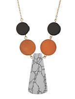 Недорогие -Жен. Классический ожерелья Однотонный / Контрастных цветов