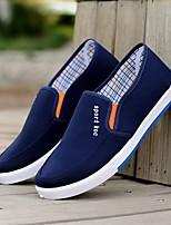 Недорогие -Муж. Комфортная обувь Полотно Лето Мокасины и Свитер Черный / Серый / Синий