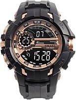 Недорогие -Муж. Спортивные часы электронные часы Цифровой Стеганная ПУ кожа Черный / Серебристый металл Защита от влаги Фосфоресцирующий Цифровой На каждый день Мода - Красный Зеленый Синий