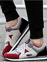 Недорогие -Муж. Комфортная обувь Синтетика Весна & осень / Осень Кеды Черный / Красный