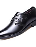 Недорогие -Муж. Комфортная обувь Полиуретан Весна & осень Туфли на шнуровке Черный / Темно-русый