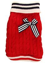Недорогие -Собаки Свитера Одежда для собак Простой Животное Красный Синий Акриловые волокна Костюм Назначение Осень Зима Универсальные Плетеный