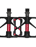 Недорогие -PROMEND Горный велосипед педали Плоские педали и платформы Легкость Прочный Простота установки 3 Подшипники Cr-Mo для Велоспорт Шоссейный велосипед Горный велосипед Велосипедный мотокросс Черный