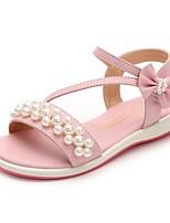 Недорогие -Девочки Обувь Микроволокно Лето Удобная обувь Сандалии для Дети Бежевый / Розовый