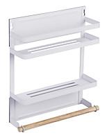 Недорогие -Кухонная организация Полки и держатели Металл Новый дизайн / Аксессуар для хранения / Прост в применении 1 комплект