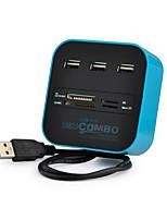 Недорогие -3 USB-концентратор USB 2.0 USB 2.0 С чтения карт (ы) Центр данных