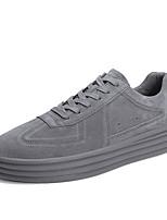 Недорогие -Муж. Комфортная обувь Свиная кожа Весна & осень Кеды Черный / Серый / Хаки