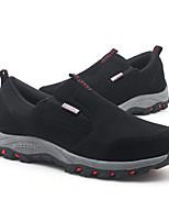 Недорогие -Муж. Комфортная обувь Бархат Осень Мокасины и Свитер Черный / Темно-синий / Серый