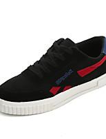 Недорогие -Муж. Комфортная обувь Полотно Весна & осень Кеды Черный / Серый / Черный / Красный