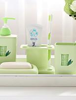 Недорогие -Стакан для зубных щеток Простой Современный современный Пластик 1 комплект Украшение ванной комнаты