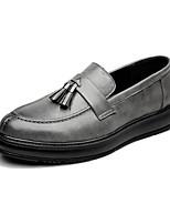 Недорогие -Муж. Комфортная обувь Микроволокно Весна & осень Мокасины и Свитер Черный / Серый / Коричневый