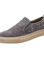 Недорогие -Муж. Комфортная обувь Свиная кожа Весна & осень Мокасины и Свитер Серый / Зеленый