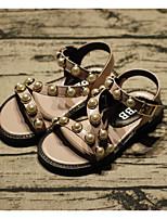 Недорогие -Девочки Обувь Искусственная кожа Лето Удобная обувь Сандалии для Дети Черный / Зеленый / Розовый