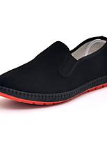 Недорогие -Муж. Комфортная обувь Полотно Весна Мокасины и Свитер Черный