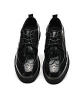 Недорогие -Муж. Комфортная обувь Микроволокно Весна & осень Туфли на шнуровке Черный / Винный