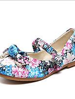 Недорогие -Девочки Обувь Полотно Весна Удобная обувь На плокой подошве На эластичной ленте для Красный / Синий