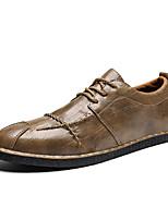 Недорогие -Муж. Комфортная обувь Полиуретан Весна & осень Деловые / На каждый день Кеды Дышащий Черный / Коричневый / Хаки