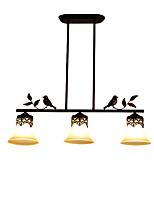 Недорогие -3-Light Оригинальные Люстры и лампы Рассеянное освещение Окрашенные отделки Металл Стекло 110-120Вольт / 220-240Вольт