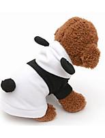 Недорогие -Собаки Толстовки Одежда для собак Животное Белый Хлопок Костюм Назначение Мопс Пудель Чихуахуа Весна & осень Косплей Симпатичные Стиль