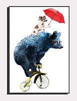 Недорогие -Холст в раме / Набор в раме - Животные / Мультипликация Пластик Иллюстрации
