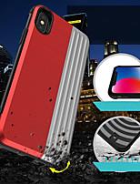 Недорогие -Кейс для Назначение Apple iPhone XR / iPhone XS Max Бумажник для карт / Защита от удара / со стендом Кейс на заднюю панель Геометрический рисунок / броня Твердый ПК для iPhone XS / iPhone XR / iPhone