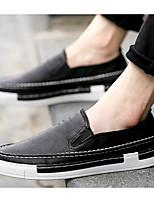 Недорогие -Муж. Комфортная обувь Полиуретан Весна & осень Мокасины и Свитер Черный / Серый / Коричневый