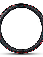 Недорогие -38см диаметр роскошная искусственная кожа крышка автомобиля руль автомобильные аксессуары