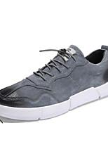 Недорогие -Муж. Комфортная обувь Кожа Весна & осень Кеды Черный / Серый / Хаки