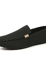 Недорогие -Муж. Комфортная обувь Полотно Лето Мокасины и Свитер Белый / Черный